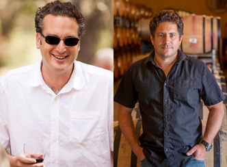 Winemakers Massimo Monticelli and Julien Fayard